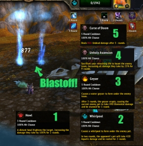 blastoff wow world of warcraft pet battles beasts of fable celestial tournament howl bomb