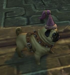 princess hat pug wow world of warcraft pet battle 5.4 celestial