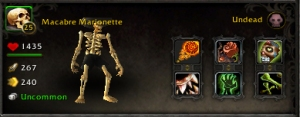 macabre marionette wow world of warcraft pet battle