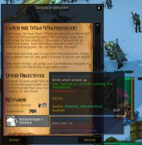 wolpertinger quest wow world of warcraft pet battles