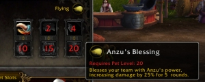 anzu blessing wow world of warcraft pet battle dread hatchling