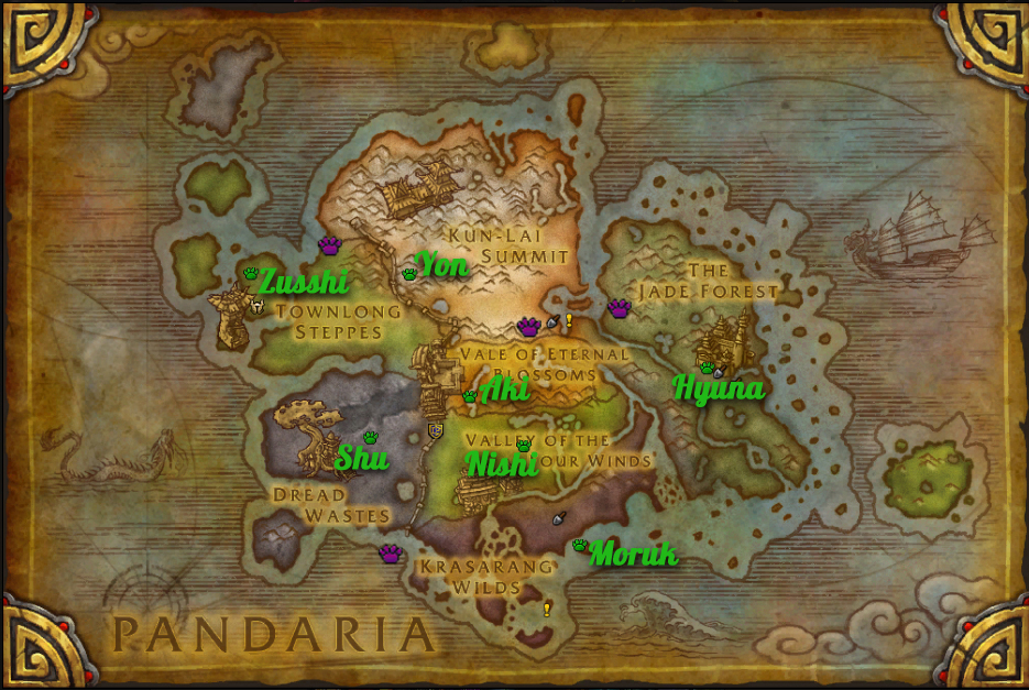 Pandaria tamer roundup for Terrace of the endless spring location
