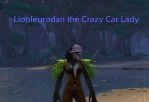 crazy cat lady liopleurodon wow warcraft pet battle