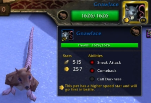 gnawface stats wow warcraft pet battle